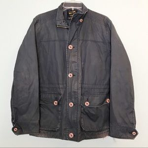 URBAN OUTFITTERS CPO Navy Military Raincoat Jacket
